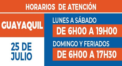 Horario Titán Guayaquil 25 de julio